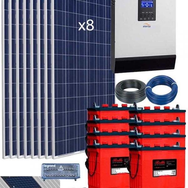 Kit Solar Fotovoltaico Aislada 5000W 48V 10800Wh día