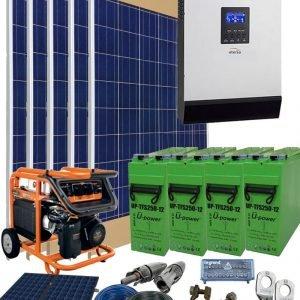 Kit Solar Fotovoltaico Aislada 5800Wh día 24V